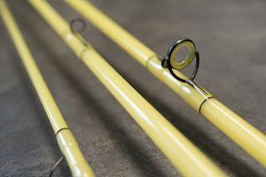 yellow glass rod