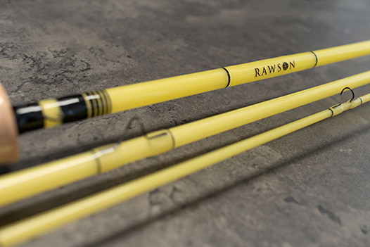Yellow Fibreglass Fly Rod